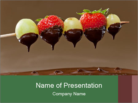 fondue dessert powerpoint template amp backgrounds id