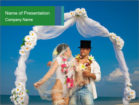 Beach Wedding Ceremony Powerpoint Template Backgrounds Google