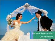 Cheerful Bride and Groom PowerPoint Templates