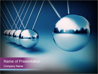 3D Silver Pendulum PowerPoint Template