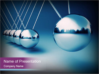 3D Silver Pendulum PowerPoint šablony