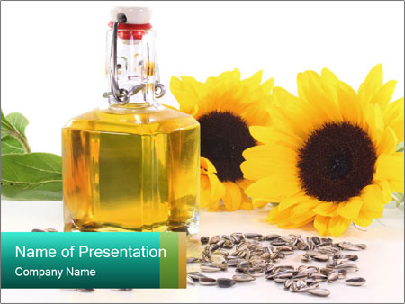 Cooking Sunflower Oil PowerPoint Template & Backgrounds ID ...