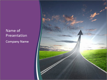 Raising Road Arrow PowerPoint Template