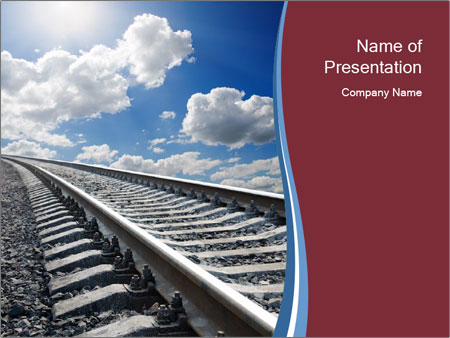Railway powerpoint template smiletemplates endless railway powerpoint template toneelgroepblik Image collections