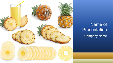 sweet pineapple powerpoint template backgrounds google slides