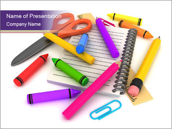 Drawing Materials PowerPoint Template