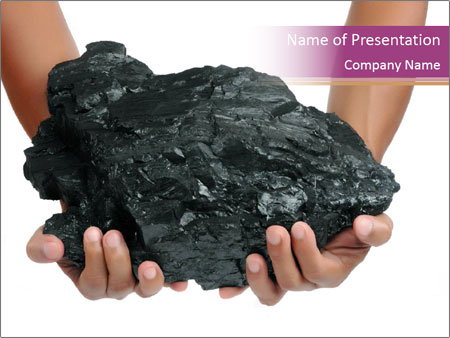 Black Coal PowerPoint Template & Backgrounds ID 0000064292 ...