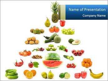 Vegan Food Pyramid PowerPoint Template