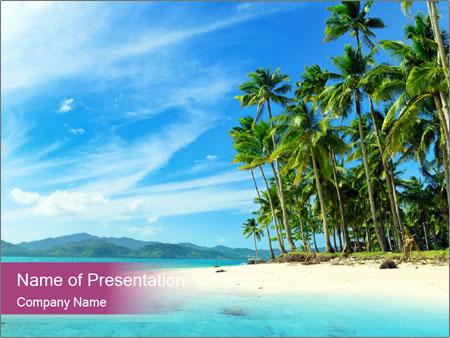 Sandy beach powerpoint template backgrounds google slides id sandy beach powerpoint template maxwellsz