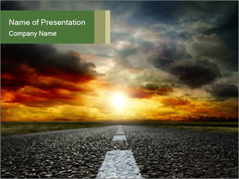 Road Perspective PowerPoint Template