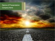 Road Perspective PowerPoint Templates