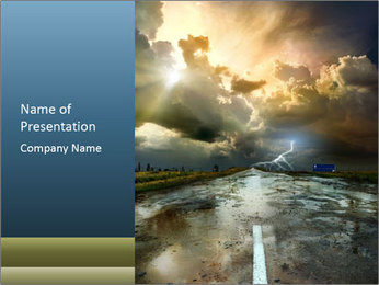 Scenic Sky and Road PowerPoint Template