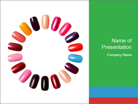Set of Nail Colors PowerPoint Template & Backgrounds ID 0000064466 ...