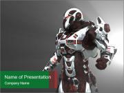 Virtual Robot Warrior PowerPoint Templates