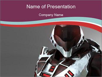 Dangerous Robot Warrior PowerPoint Template