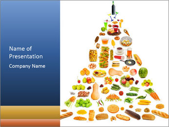 Big Food Pyramid PowerPoint Template