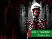 Horror powerpoint template smiletemplates horror skeleton powerpoint template toneelgroepblik Images