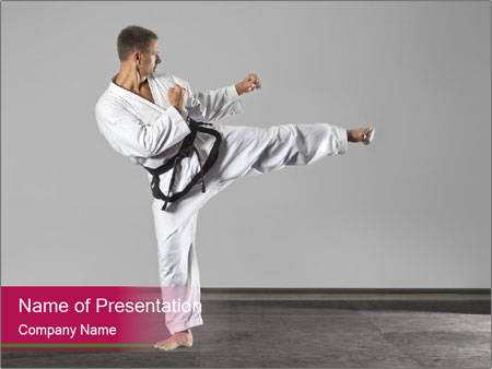 master of karate powerpoint template & backgrounds id 0000064554, Presentation templates