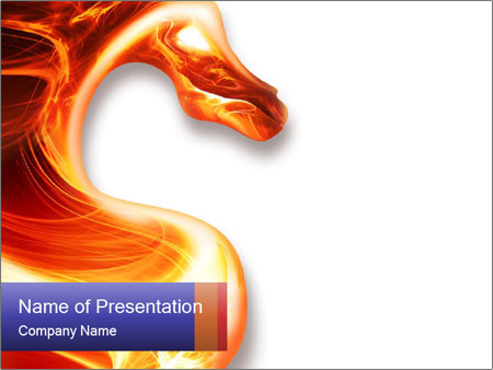 Chinese Fire Dragon PowerPoint Template, Backgrounds & Google Slides ...