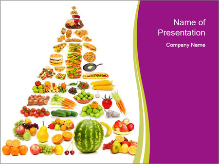 Nutrition Food Pyramid Powerpoint Template Backgrounds Google