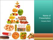 Basic Food Pyramid PowerPoint Templates