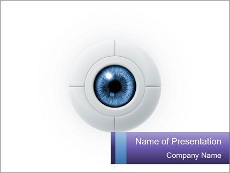 eye powerpoint template smiletemplates com
