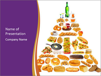 Junk Food Pyramid PowerPoint Template