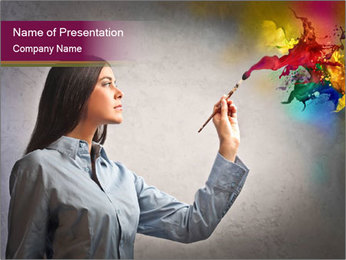Creative Business Woman PowerPoint Template