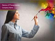 Creative Business Woman PowerPoint Templates
