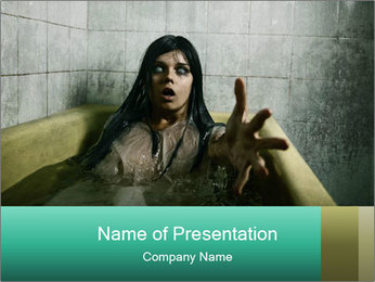 Scary Halloween Girl PowerPoint Template