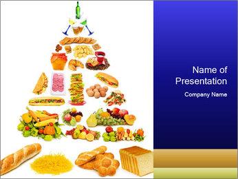 Basic Food Pyramid PowerPoint Template