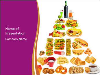 Unhealthy Food Pyramid PowerPoint Template