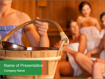 Women in Sauna PowerPoint Template