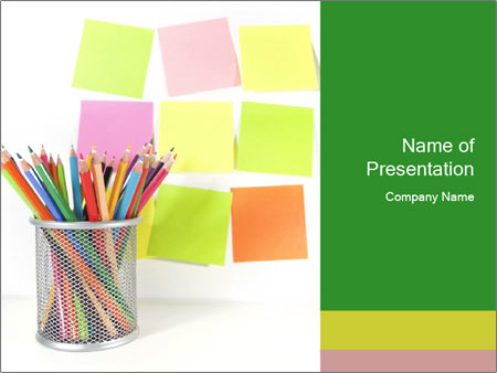school memo board powerpoint template & backgrounds id 0000064812, Presentation templates