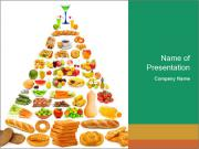 Healthy Food Forming Pyramid PowerPoint Templates