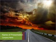 Road and Sunrise PowerPoint Templates