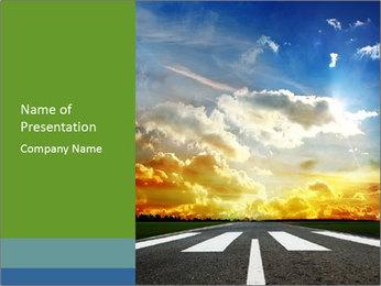 New Asphalt Road PowerPoint Template