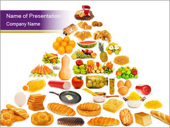 Traditional Food Pyramid PowerPoint Template