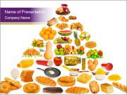 Traditional Food Pyramid PowerPoint Templates