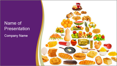 traditional food pyramid powerpoint template backgrounds google