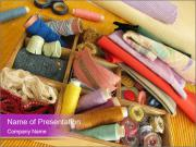 Sewing Utensils on the Table PowerPoint Templates