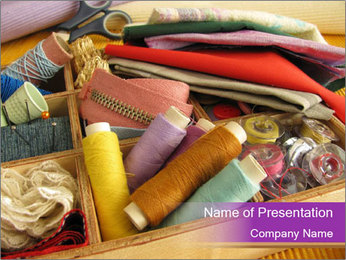 Buy Sewing Utensils PowerPoint Template