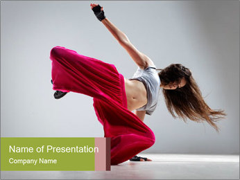 Dancer Training in Studio PowerPoint Template