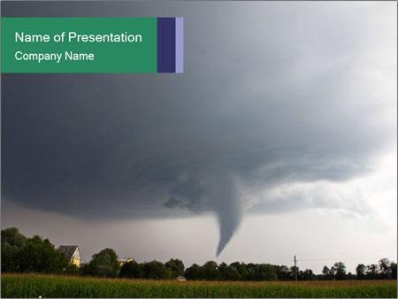 deadly tornado powerpoint template & backgrounds id 0000065078, Modern powerpoint