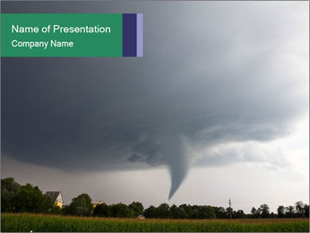 Deadly Tornado PowerPoint Template