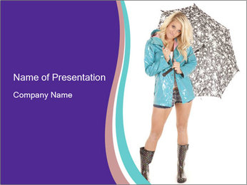 Clothes for Rainy Weather PowerPoint Template