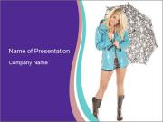 Clothes for Rainy Weather PowerPoint Templates