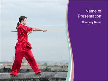 Red Kimono PowerPoint Template