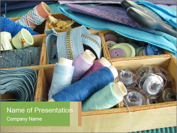 Sewing Utensils PowerPoint Template