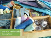 Sewing Utensils PowerPoint Templates